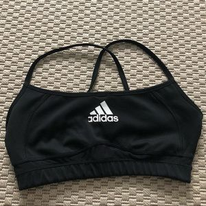 Adidas black sports bra with mesh back size M